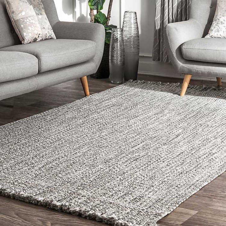 Braided Tassel Indoor/Outdoor Area Rug, 19x19 - living room 5x8 rug | living room 5x8 rug