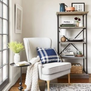 Bright, Traditional Living Room Reading Nook Styled By Emily ... | living room nook