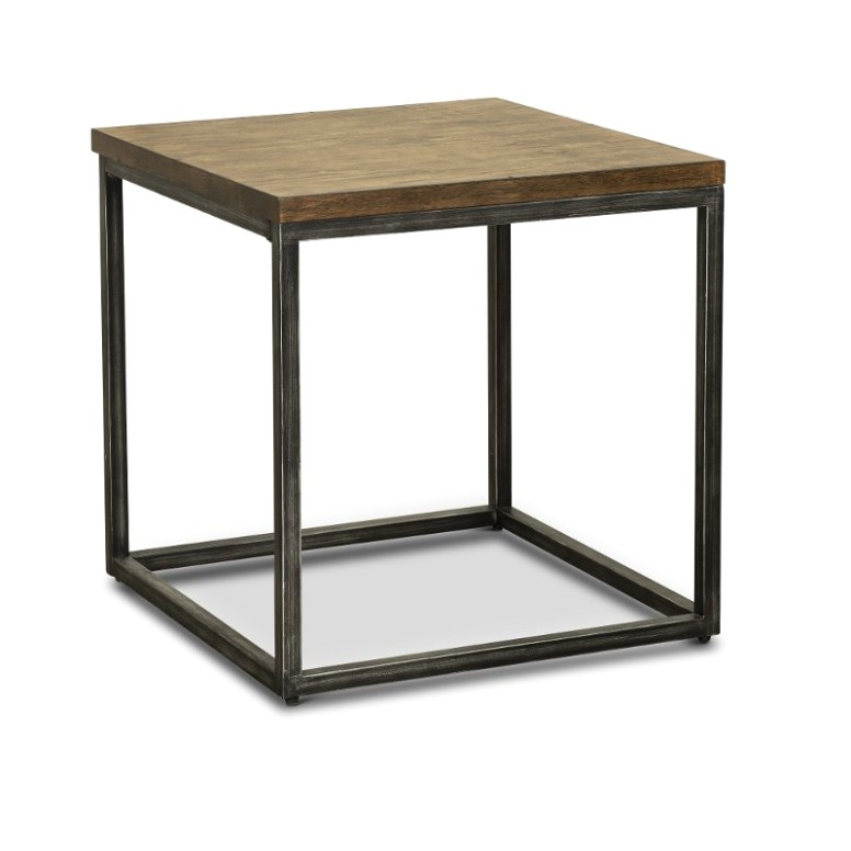 Brown Industrial Rustic End Table - Chandler - living room end tables | living room end tables