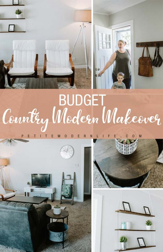Budget Country Modern Living Room Makeover - Petite Modern Life - living room makeover | living room makeover