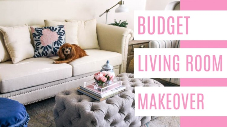 Budget Living Room Makeover - at home with Ashley - living room makeover | living room makeover