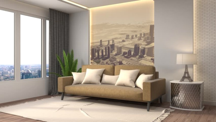 Building up Modern Living Room | living room 3d