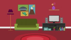 Cartoon Modern Colorful Living Room Stock Footage Video (11% Royalty-free)  11 | Shutterstock | living room cartoon