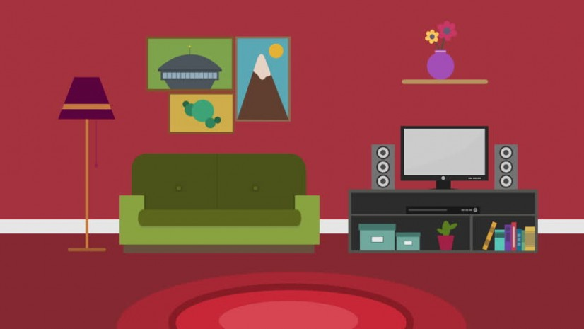 Cartoon Modern Colorful Living Room Stock Footage Video (11% Royalty-free) 11 | Shutterstock - living room cartoon | living room cartoon