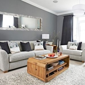Chic grey living room with clean lines in 14 | Living room grey ... | living room grey