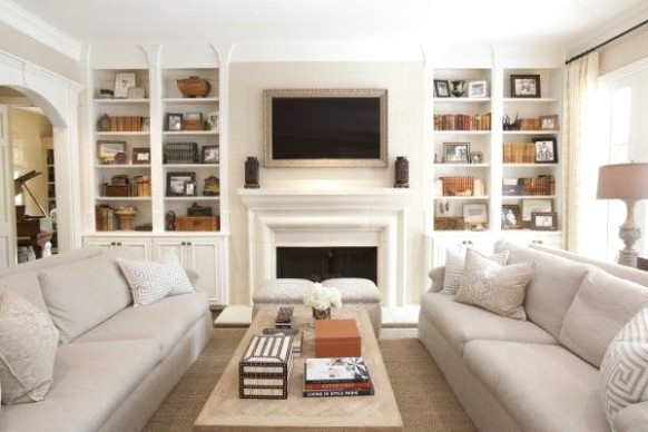 Client Inspiration | The tale of Two Sofas | Narrow living room .. | living room 2 sofas