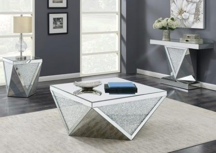 Coaster 14S14 - living room 3 piece table set | living room 3 piece table set