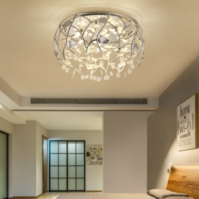 Contemporary Light Fixtures Flower Leaves Crystal Flush Mount Light for  Living Room Dining Room - living room light fixtures | living room light fixtures