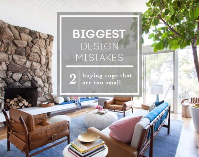 Design Mistake #19: The 'Too Small Rug' - Emily Henderson | living room 5x8 rug