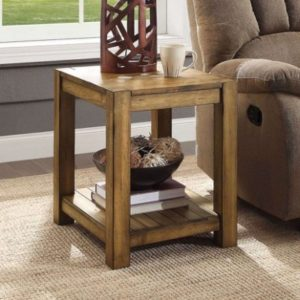 Details about Modern Farmhouse End Table Solid Barn Wood Finish Living  Family Room Furniture | living room end tables
