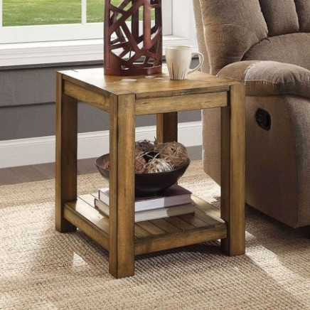 Details about Modern Farmhouse End Table Solid Barn Wood Finish Living  Family Room Furniture - living room end tables | living room end tables