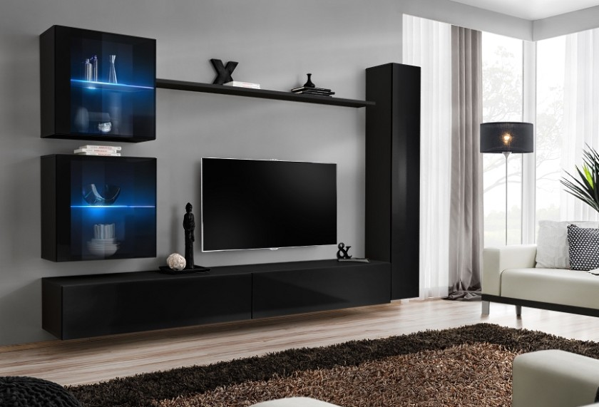 Details about Shift 18 - living room media wall unit / modern entertainment  center cabinet - living room entertainment center | living room entertainment center