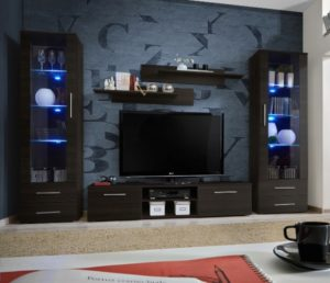 Details about Telia 18 - living room wenge entertainment center / modern tv  wall unit/ tv stand | living room entertainment center