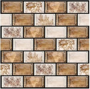 DIY Decals Tiles Waterproof Wall Stickers for Bathroom/Kitchen/Living Room  Peel and Stick 20D Tile Backsplash in Mexican Talavera Riser | living room tiles