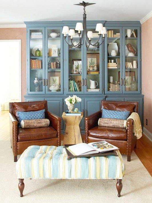 Eco-Friendly Makeover for a Living Room | Living room paint .. | living room hutch