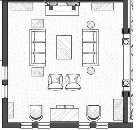 Effective Living Room Layouts for your Fireplace and TV - Home ..   living room plan