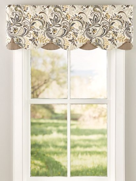 Emerson Rod Pocket Layered Valance | Kitchen window treatments .. | living room valances