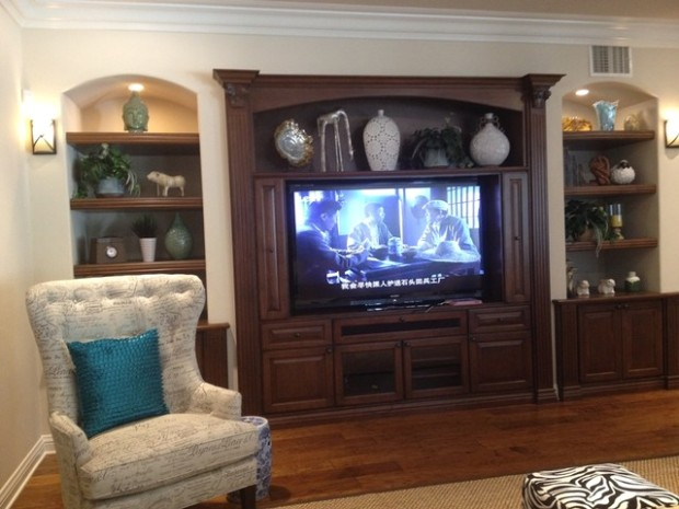 Entertainment Centers and Wall Units - Traditional - Living Room .. | living room entertainment center
