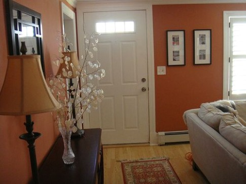 Entrance with no foyer (With images) | Small living room decor .. | living room entrance