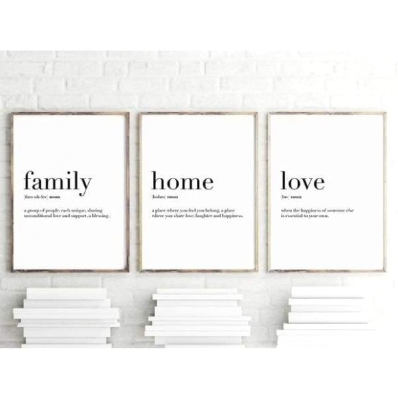 Family Home Love Definition Quotes Art Love Verse Printable Decor Living  Room Bedroom Kitchen Decor Poster Wall Mural Canvas Print Without Frames - living room quotes   living room quotes