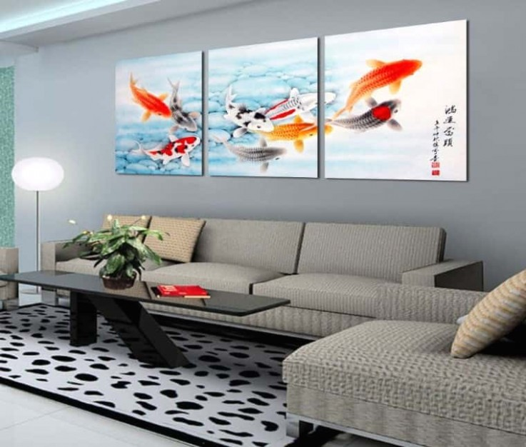feng shui painting for living room 16 Captivating koi 20116 | living room paintings