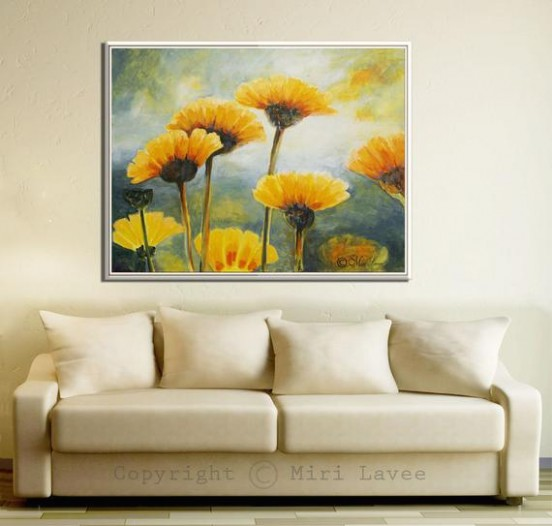 Flower Painting, Paintings on Canvas, Living Room Painting, Flower Oil  Painting, Large Painting, Nature Painting, Large Flowers Painting - living room paintings | living room paintings
