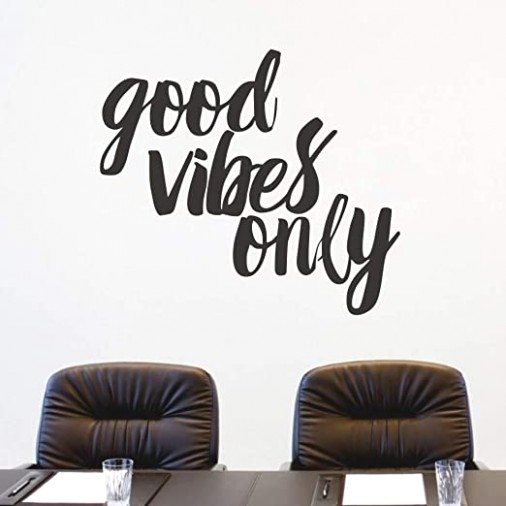 FlyWallD Wall Decals Quotes Living Room Bedroom Vinyl Wall Art Sayings  Stickers Office Decor Good Vibes Only - living room quotes for wall | living room quotes for wall
