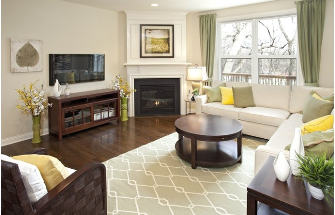 Furniture Arrangement In Small Living Room Rectangle Decor With ... | living room furniture layout