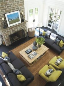 Furniture Layout and Home Decor Ideas: Balance and Symmetry ... | living room 2 couches