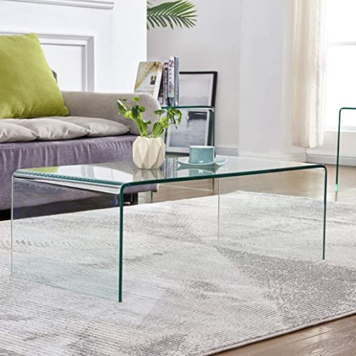 Glass Coffee Table for Living Room Tempered Glass Modern Coffee Table Clear  End Table Outdoor Table - living room glass table   living room glass table