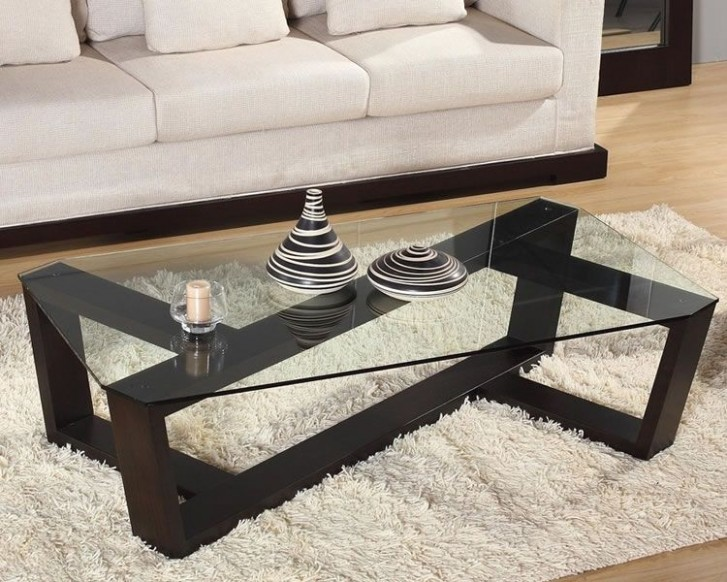 Glass top coffee table design plans - Video and Photos   Modern ..   living room glass table