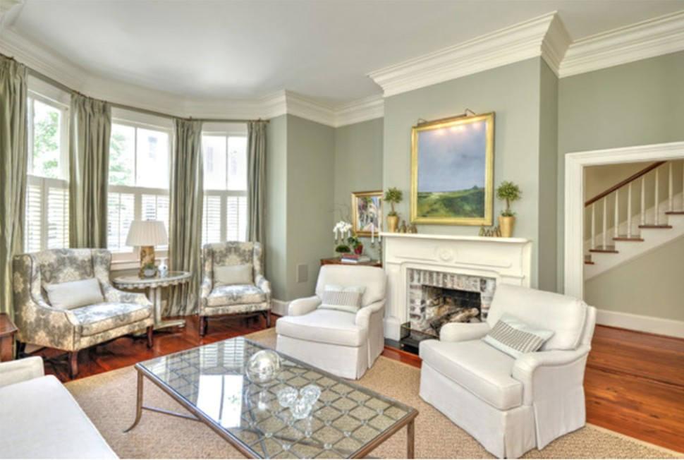 Green Living Room Ideas: Walls, Chairs, Paint - living room green walls   living room green walls