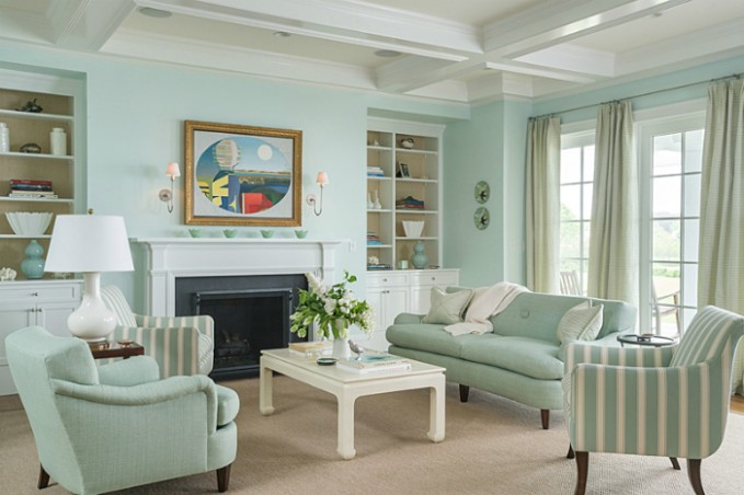 Green Walls for the living room, blue for the bedroom   Design ..   living room green walls