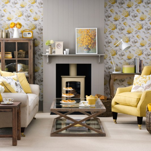 Grey and yellow living room ideas and décor inspiration | Ideal Home | living room grey
