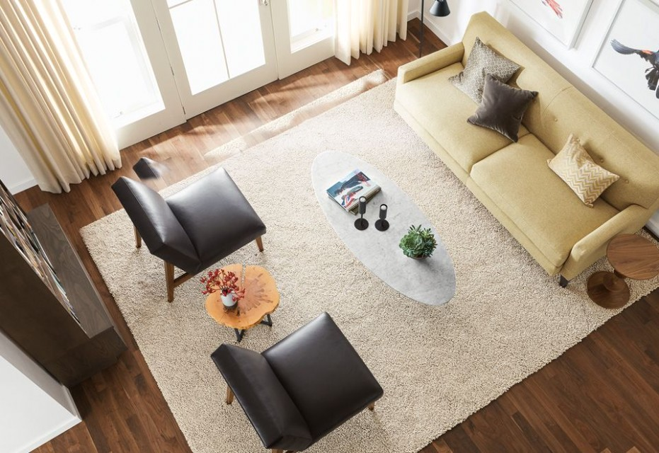 How to Choose a Rug Size - Ideas & Advice - Room & Board - living room rugs 9x12 | living room rugs 9x12