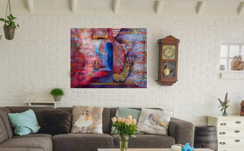 How To Choose Wall Art for Living Room - Wall Painting Ideas for .. | living room paintings