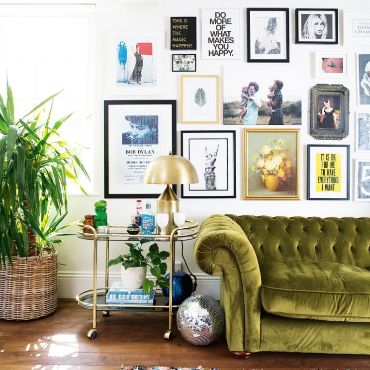 How to create a gallery wall: 9 top tips on nailing yours | Real .. | living room gallery wall