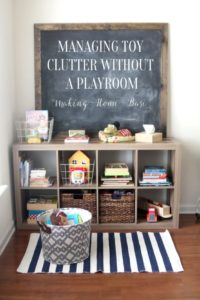 How to Manage Toy Organization When You Don't Have a Playroom ... | living room organization ideas