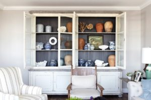 How to Organize and Style Your China Hutch | living room hutch