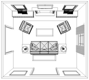 How to Plan an Accurate Living Room Interior Design Layout ... | living room plan