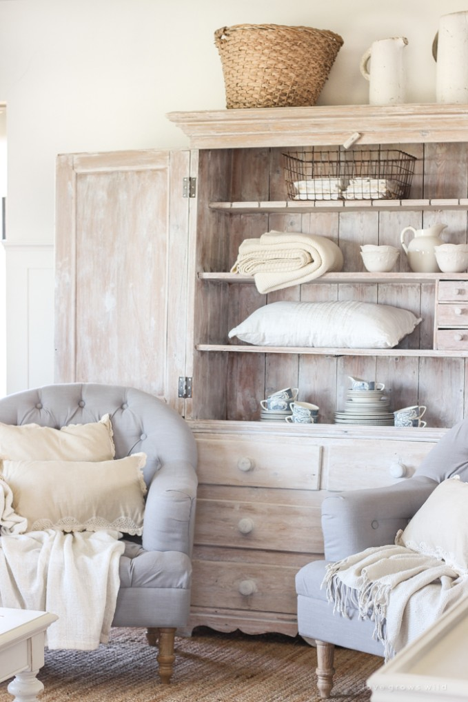 Hutch in the Living Room - Love Grows Wild - living room hutch | living room hutch