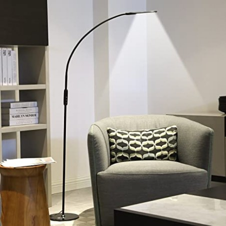 IMIGY Dimmable 19W Floor Lamp, Office/Work/Living Room Reading Flexible  Gooseneck Light with Touch and Remote Control, 19-Level Brightness and Color  .. | living room lamps