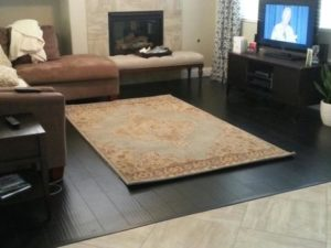 is this rug too small? | living room 5x8 rug