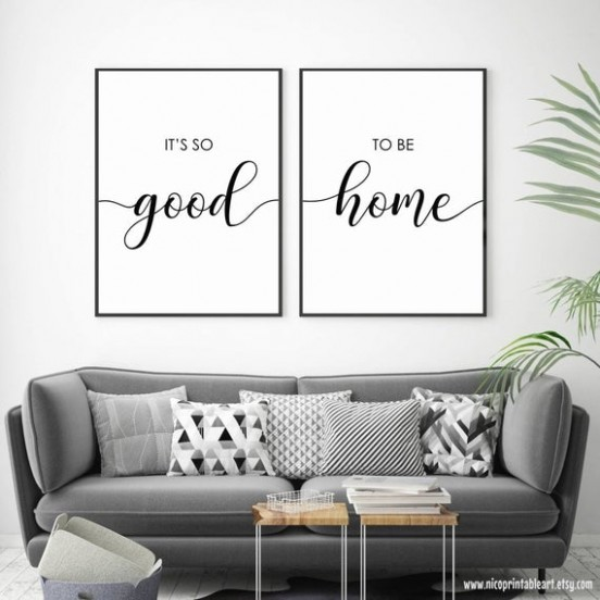 Its So Good to Be Home Print, Set of 20 Quotes, Living Room Wall Art, Above  Bed Quotes, Bedroom Wall Decor, Printable Quote, Couple Wall Art - living room quotes   living room quotes