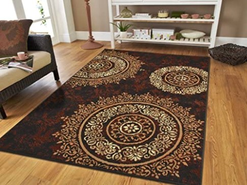 Large Contemporary Area Rugs 15x15 Modern Living Room Rugs 15x15 Black Brown  Beige Cream Floral Rugs Clearance Area Rug Prime - living room rugs 9x12 | living room rugs 9x12
