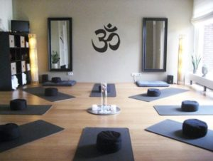 Large Om Symbol Yoga Decal for Living Room Dorm by ZestyGraphics ... | living room yoga