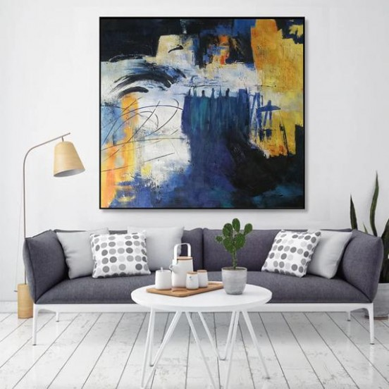Large paintings for sale, large canvas art for living room, abstract  acrylic painting, extra large artwork on canvas, massive wall art EM16 - living room paintings | living room paintings
