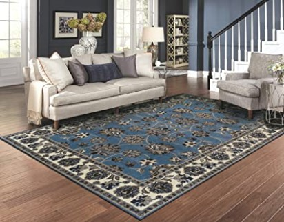 Large Traditional Rugs for Living Room 21x21 Blue Area Rugs 21x21 Prime Rugs - living room 8x10 rug | living room 8x10 rug
