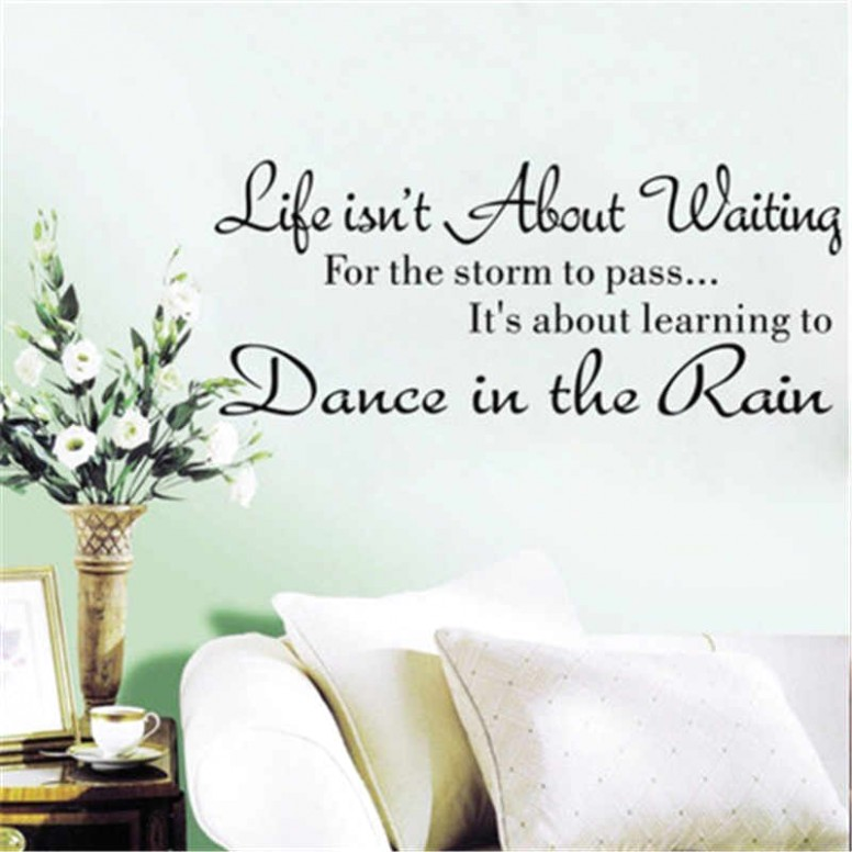 Life is not About Waiting Inspirational Quotes Wall Stickers Living Room  Quotes Decals Mural Office Quotes Sayings Phrases - living room quotes   living room quotes