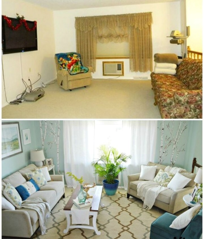 Living Room and Dining Room Makeover on a Budget | Hometalk - living room makeover | living room makeover